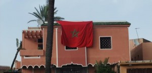 The Moroccan flag