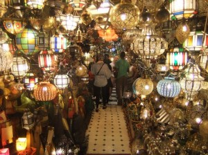Tin lamps in Jemaa al-Fnaa