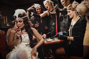 Poker and 1930's fancy dress