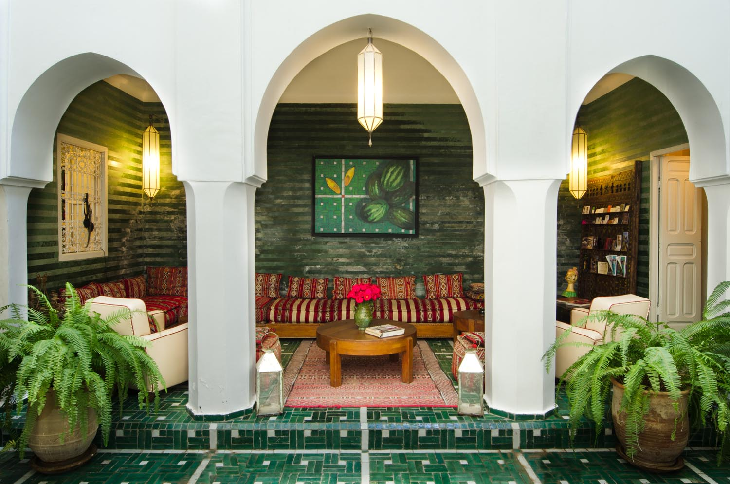 Riad vert luxury riad in marrakech morocco book riad for Hotel design marrakech