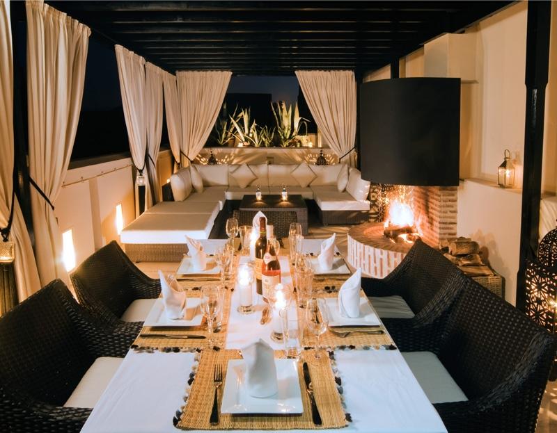 Dining at Riad Adore
