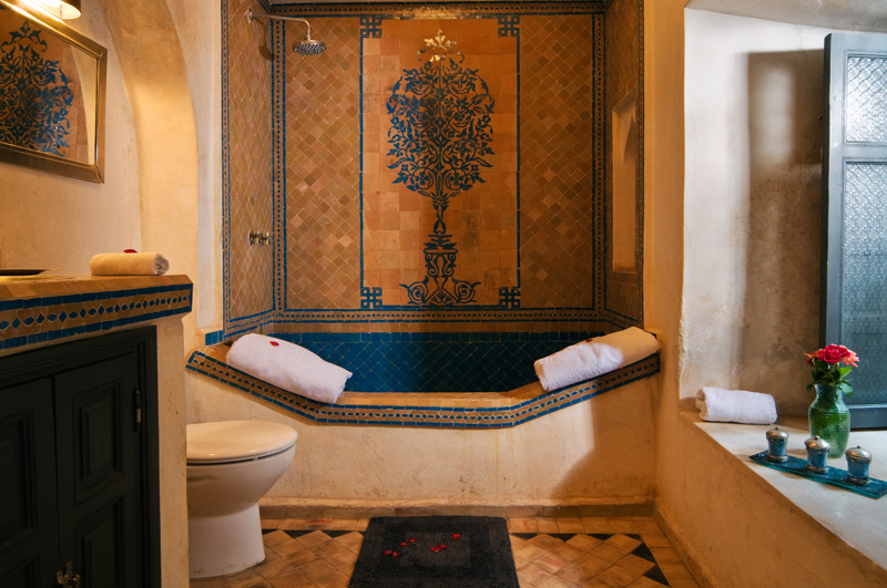 Riad papillon client comments reviews and testimonials for Salle de bain style hammam