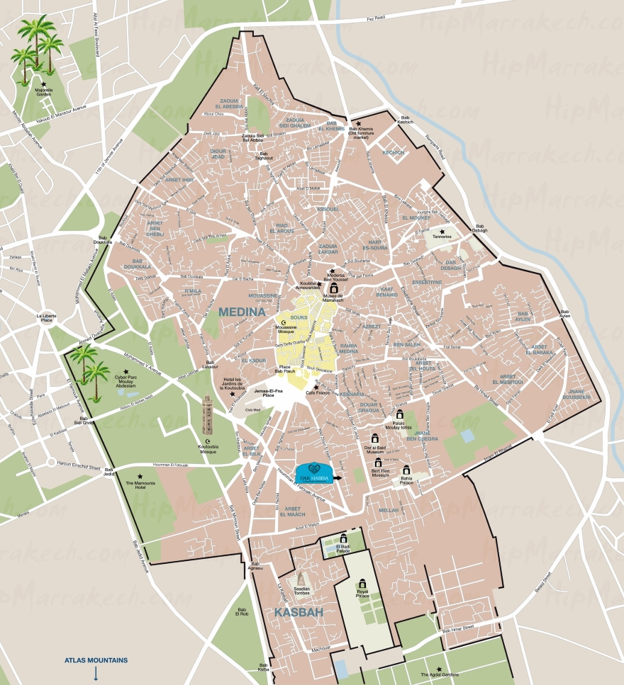 Dar Habiba location