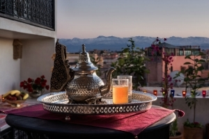 Mint tea and Atlas Mountains