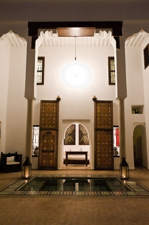 The Riad at night