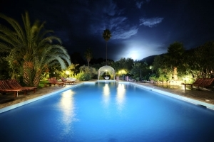 Moonlit pool