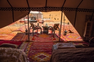 View from your luxury tent
